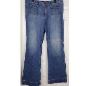 💗Ann taylor loft flare jeans size 32/14